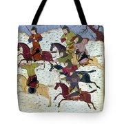 Mongol Battle, C1400 Tote Bag