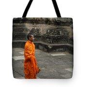 Monk At Ankor Wat Tote Bag