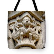 Monkey Man With Birds Tote Bag