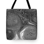 Mono Swirl Abstract Tote Bag