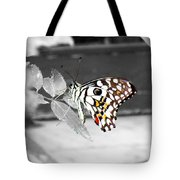 Monochromatic Butterfly Tote Bag