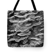 Monochrome Chicken Of The Woods Fungus Tote Bag