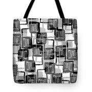 Monochrome Squares Tote Bag