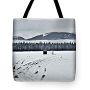 Montana Ice Fishing Tote Bag