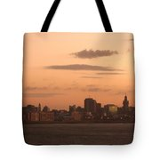 Montevideo Skyline At Sunrise Tote Bag