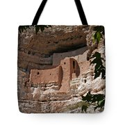 Montezuma Castle Cliff Dwellings In The Verde Valley Of Arizona Tote Bag