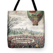 Montgolfier Balloon Le Flesselles Tote Bag