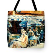 Montreal Cafe City Scenes Prince Arthur And Duluth Street Tote Bag