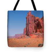Monument Valley Elrphant Butte And Hogan Tote Bag