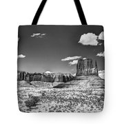 Monument Valley In Monochrome  Tote Bag