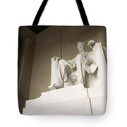 Monumental Statue Of Abraham Lincoln Tote Bag