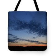 Moon And Clouds At Dusk Tote Bag