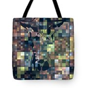 Moon Bath Geometric Splash Tote Bag