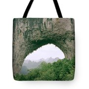 Moon Hill In Guangxi In China Tote Bag
