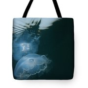 Moon Jelly Ripples Tote Bag