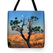 Moon Over Bryce Canyon Tote Bag