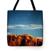 Moon Over Red Rocks Garden Of The Gods Tote Bag