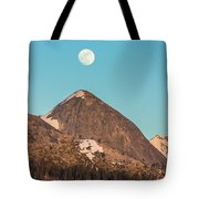 Moon Over Sierra Peak Tote Bag