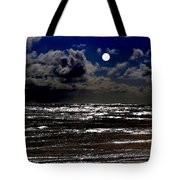 Moon Over The Pacific Tote Bag