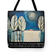 Moon Quote Poster Tote Bag