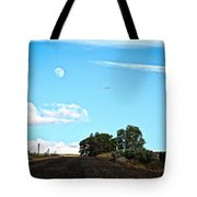 Moon Road Tote Bag