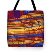 Moon Rock, Transmitted Light Micrograph Tote Bag by Michael W. Davidson