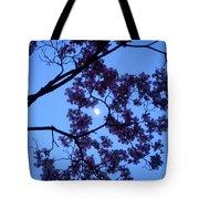 Moon Through Dogwood Tote Bag