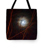 Moonlight By The Camp Fire Tote Bag