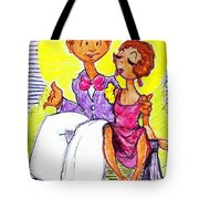 Moonlight Couple Tote Bag