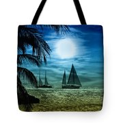 Moonlight Sail - Key West Tote Bag