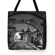 Moonlight View Of Market Street, Odos Tote Bag