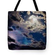 Moonlit Clouds With A Splash Of Lightning Tote Bag