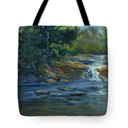 Moonrise On The River Tote Bag