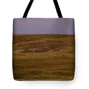 Moonrise Over Badlands South Dakota Tote Bag