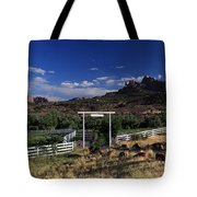 Moonrise Over Grand View Ranch Tote Bag