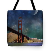 Moonrise Over The Golden Gate Tote Bag