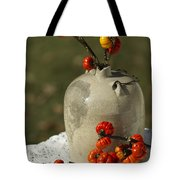 Moonshine Jug And Pumpkin On A Stick Tote Bag