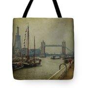 Moored Thames Barges. Tote Bag