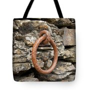 Mooring Ring And Rust Tote Bag