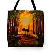 Moose Sunset Tote Bag