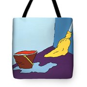 Mop And Bucket Tote Bag