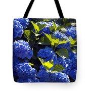 Mophead Hydrangeas Dry Brushed Tote Bag