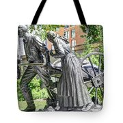 Mormon History - Hand Cart Statue Tote Bag by Gary Whitton