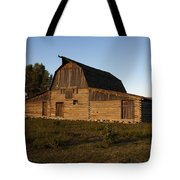 Mormon Row Barn Sunset Tote Bag