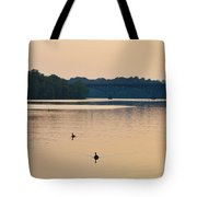Morning Along The Schuylkill River Tote Bag