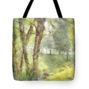 Morning Birches Tote Bag