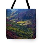 Morning Waimea Canyon Tote Bag