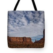 Morning Clouds Over Monument Valley Tote Bag