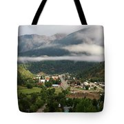 Morning Clouds Over Red River Tote Bag