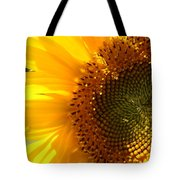 Morning Dew On Sunflower Tote Bag